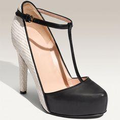 Colorblock T-Strap Heels / Phillip Lim