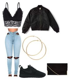 """Untitled #29"" by tonaehickman on Polyvore featuring Oysho, WithChic, NIKE and Everlane"