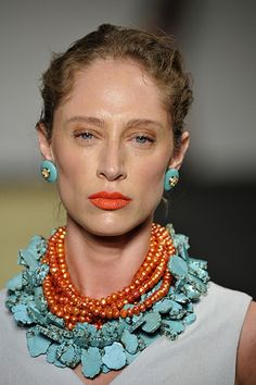 Francesca Romana Diana...I just love the color orange with turquoise!