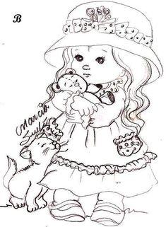 adorable girl and kitten