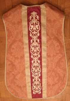 I made a new rose chasuble (the fifth, I've made in this color). Rose vestments are worn on the third Sunday in Advent (and the fourth Sunday in Lent). The other pieces