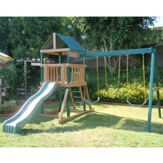 Safari Swing Set by KidWise - Polymere coated so kids don't get splinters!!