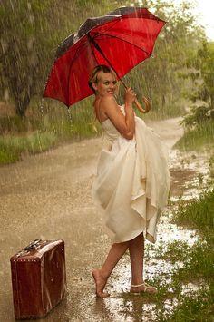 Bride in the rain ~ by m istmercury