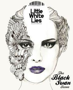 Little White Lies cover: Black Swan by Thip Sriyananda, via Behance