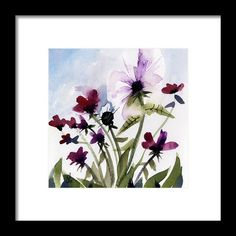 Floral 7 Framed Print By Tonya Doughty