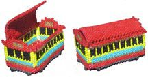 MINIATURE CHINATOWN TROLLEY TRINKET BOX