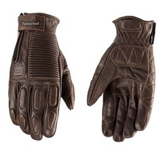 Motorcycle Gloves Brown Motorcycle Leather Gloves
