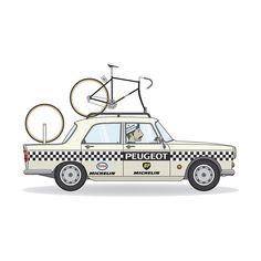 3008 Peugeot, Peugeot 206, Peugeot Bike, Bike Art, New Print, Cycling, Illustration, Prints, Store
