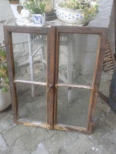 Vintage Deko - uraltes Sprossenfenster mit Glas,echt Shabby - ein Designerstück…