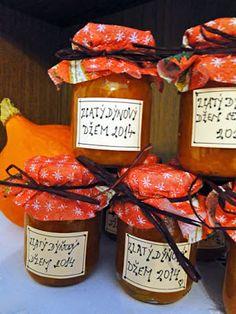 kudy-kam: Zlatý dýňový džem Home Canning, Spice Mixes, Chutney, Pickles, Jelly, Food And Drink, Dairy, Pesto, Cooking Recipes