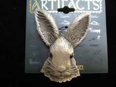 Jonette Jewelry Bunny Rabbit pin by SideEffectsNY on Etsy, $22.00