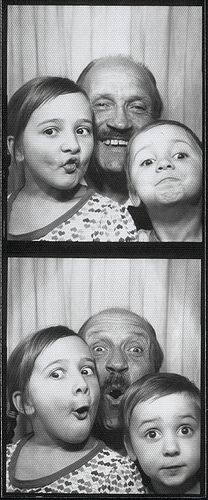 +~ Vintage Photo Booth Picture ~+  The best Dad's are the silly Dads.
