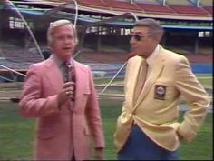 Two sports broadcasting legends, ABC's Howard Cosell and WEWS's Gib Shanley shared the field and the TV screen at Municipal Stadium June 1, 1981.   #WEWS #videovault5