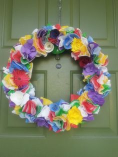 Custom Order Paper Floral Wreath with Cupcake LinersAll by aquamay, $30.00