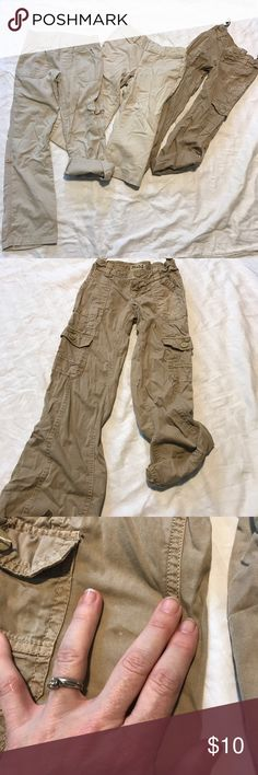 Girls pants lots. Sizes 7/8 Mudd size 7 adjustable waist. Can roll up legs and turn into capris, small spot-refer to photo. Second pair... Place est. 1989 size 8 soft elastic waist, can be rolled up into capris.. Third pair So size 7 adjustable waist, Capri length. Bottoms Casual