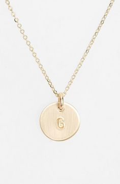 Women's Nashelle 14k-Gold Fill Initial Mini Circle Necklace - 14k Gold Fill G