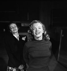 Not published in LIFE. Marilyn Monroe, 22, takes lessons with acting coach, Natasha Lytess, Hollywood, 1949.