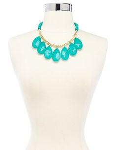 Faceted Teardrop Statement Necklace: Charlotte Russe