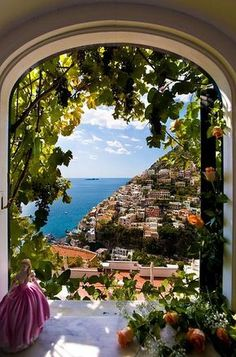 bluepueblo: Arch View, Positano, Italy photo via besttravelphotos favela of dreams, from the window of a fortress