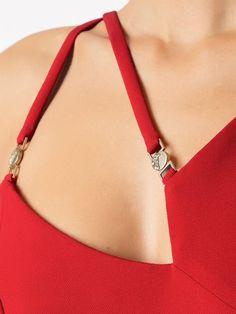 Versace, Chanel Fashion, Pretty Dresses, Blouse Designs, Evening Dresses, Arrow Necklace, Bodycon Dress, Neckline, Style Inspiration