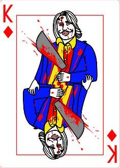 King of Diamonds from ZOMBIE SHUFFLE, a zombie game built around the 52 card deck! Kickstarter: http://kck.st/WuwXTd #WalkingDead #Zombies