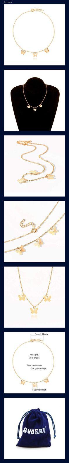 GVUSMIL Schmetterling Halskette zum Frauen Mädchen Y Anhänger Halsband Kette Halskette Charme Schmuck Geschenk zum Ihr - 14ni Glamour, Butterfly Necklace, Jewelry Gifts, Woman
