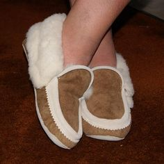 Men's Plush Soft Sole Genuine Sheepskin Authentic Moccasin Slippers - 260