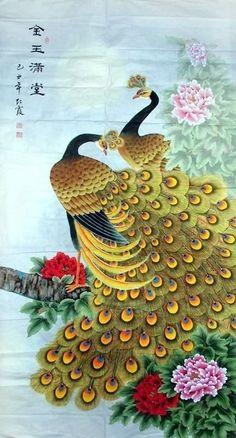 Peacock Peahen,97cm x 180cm(38〃 x 70〃),2600007-z