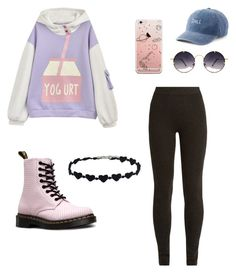 """pastel goth"" by rastep12 on Polyvore featuring Ryan Roche, Spitfire, SO and Dr. Martens"