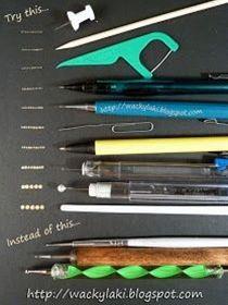 Tips & Tricks: Dotting Tool Alternatives