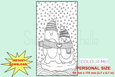 Cute Printable Personal Size COLORING Page by SweetestChelle