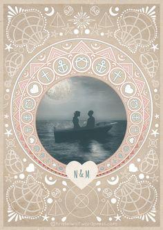 weddingcard illustrated by Christel Wolf.