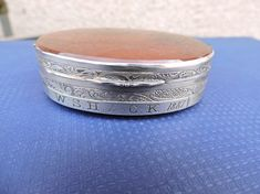 Antique Sterling Silver Double Sided Moss Agate Snuff Victorian Box Tobaccoiana Circa 1880