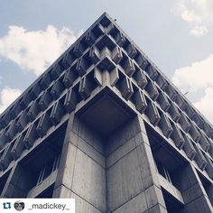 From @_madickey_  I love the idea of calling brutalism heroic architecture. Then again I also love Boston's City Hall. It is a beautiful Boston brute.  If you are a fan of architecture and design you must check out the podcast @99percentinvisible  #brutal_architecture by 99percentinvisible