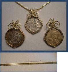 DIY Wire Necklace  : DIY Wire Wrap a Coin Pendant