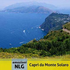Buon Venerdi dalla cima più alta di Capri!!! L'immagine può contenere: montagna, oceano, cielo, spazio all'aperto, natura e acqua