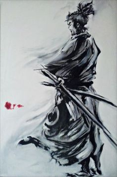 Musashi Miyamoto (copy) Oil painting // By Alex FaiChan [ http://de-saturation.blogspot.fr/2012/01/blog-post.html ]