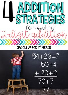 This blog post features addition strategies for teaching 2-digit addition without regrouping.