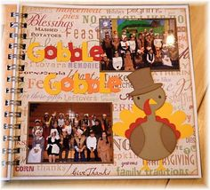 Cute page for Thanksgiving kids pictures