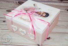 Pudełko z baletnicą - prezent na chrzciny dla Amelki - by Lil