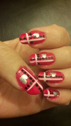 Valentines day nail art.