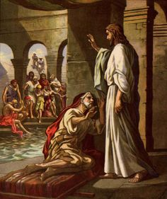 Christ Heals A Man At The Pool Of Bethesda See John 52