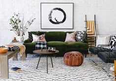 Lulu and Georgias Winter Collection Is Cabin-Chic Perfection via Brit + Co Living Room Carpet, Living Room Decor, Cabin Chic, Look Boho, Living Room Pictures, Retro Home Decor, Living Room Inspiration, Decor Interior Design, Interior Modern