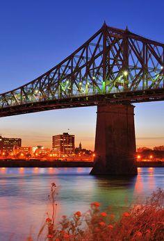 Jacques Cartier Bridge in Montreal, Canada