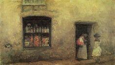 James McNeill Whistler - An Orange Note, Sweet Shop, 1884 James Abbott Mcneill Whistler, Diego Velazquez, Freer Gallery, Art Gallery, Free Art Prints, Art Database, Oil Painting Reproductions, Art For Art Sake, Office Art