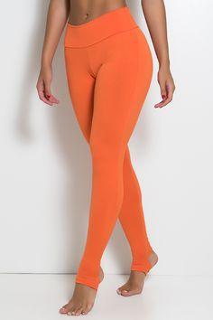 Legging Lisa com Pezinho P, M, G (laranja, preto, azul marinho, azul royal, rosa pink, azul celeste) - R$40