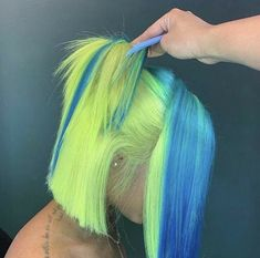 Colorful Bob Lace Front Wig Brazilian Remy Straight Human Hair Bob Wigs with Baby Hair Dyed Natural Hair, Dyed Hair, Baddie Hairstyles, Pretty Hairstyles, Colorful Lace Front Wigs, Curly Hair Styles, Natural Hair Styles, Peinados Pin Up, Hair Laid
