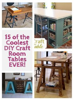 15 of the Coolest DIY Craft Room Tables EVER! | littleredwindow.com