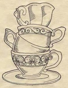Image Result For Teapot And Teacup Line Drawing Tea