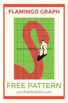 Flamingo Graphghan - Free Crochet Pattern. So summery and fun! #crochet #crochetpattern #cornertocorner #graphghan #freepattern #flamingos